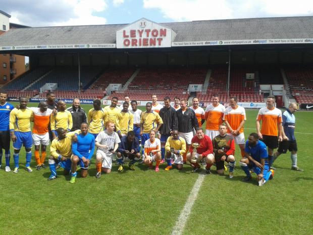 Players at the Leyton Orient stadium
