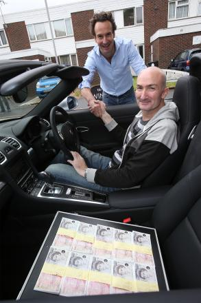 Andrew Boyce with his new Porsche