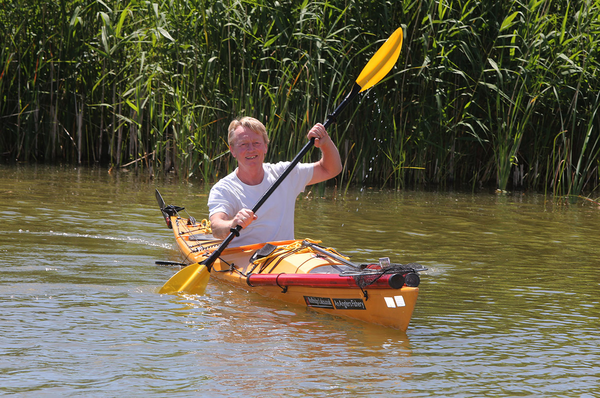 Gordon Bullock is to kayak 135 miles of River Thames for charity
