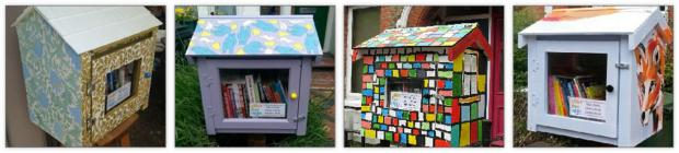 William Morris inspired Little Free Library by Julie Caves, Hare, Bear