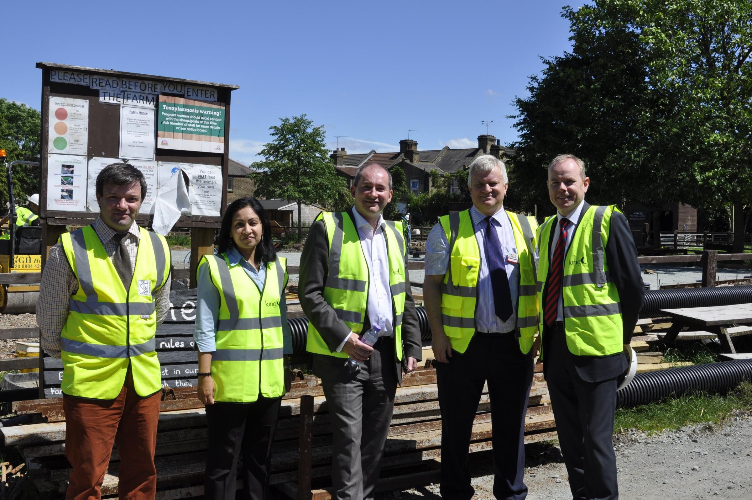 From left, Richard Painter, Councillor Saima Mahmud, Minister Stephen Williams, Timothy Pain and Tony Battle.