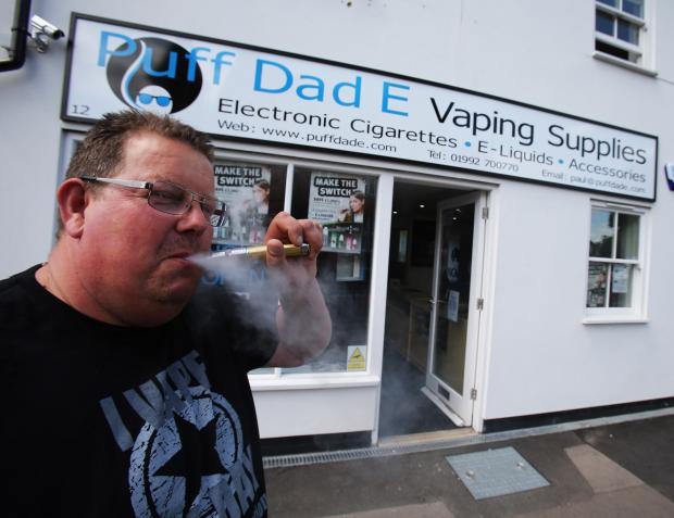 Paul Law outside his business Puff Dad E