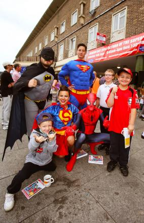 Superheroes on the streets of Debden