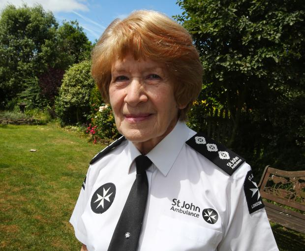 Enid Patient has helped save thousands of lives through her volunteer work with St John's Ambulance
