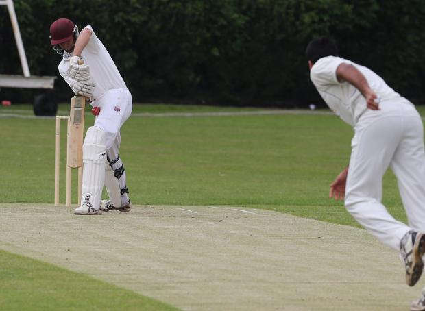 Wanstead (batting) on their way to a big victory against Loughton. Picture: Ken Mears