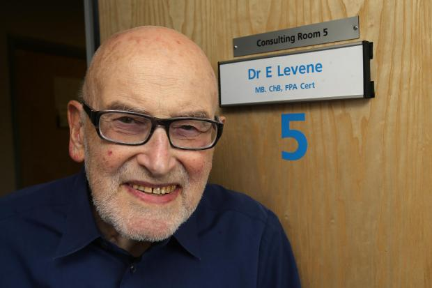 Dr Eric Levene at the Oliver Road Medical Centre yesterday