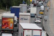 M25 delays following overnight diversion