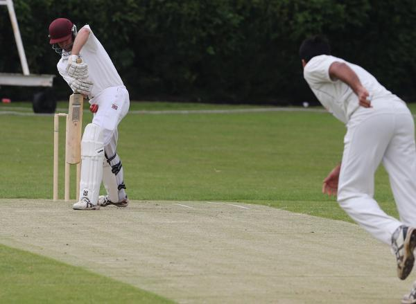 Wanstead (batting) against Loughton. Picture: Ken Mears