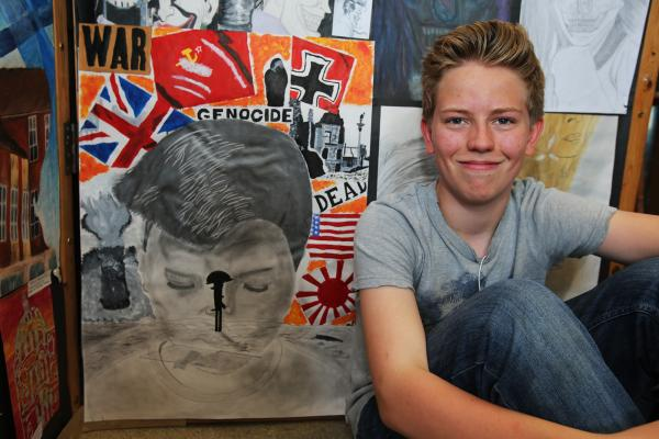 Students show off their art in school exhibition