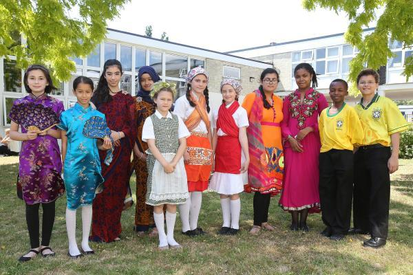 Students dress in the themes of their chosen country.