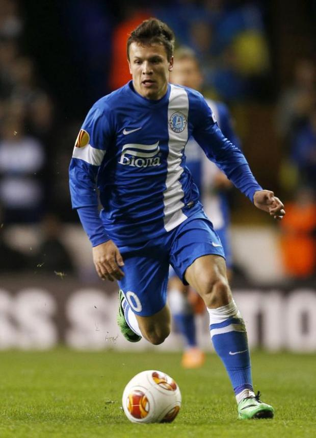 East London and West Essex Guardian Series: Yevhen Konoplyanka looks to advance with the ball for Dnipro. Picture: Action Images