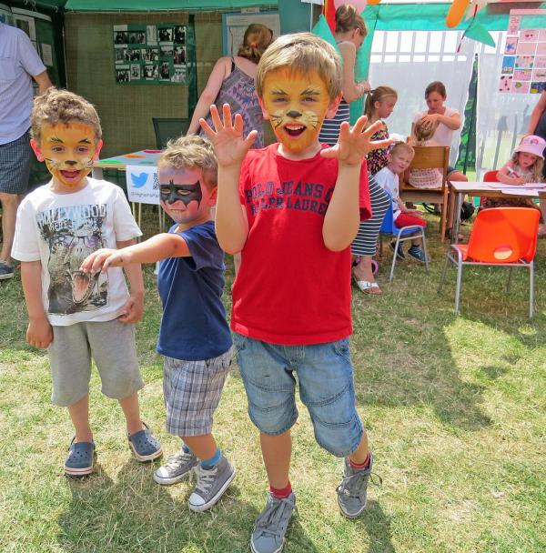 Kids have their face-painted at last year's Highams Park Day