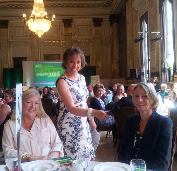 Clare Golden with Kate Green and guest speaker TV presenter Esther Rantzen