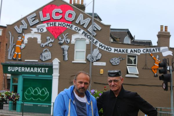 The mural costing £13,000 was finished on Friday by artists Chris Bracey and Jon Blake