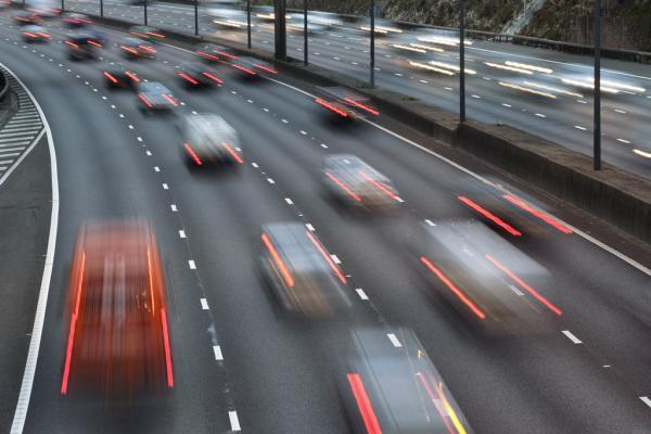 Two lanes on the M25 was closed anticlockwise following a crash