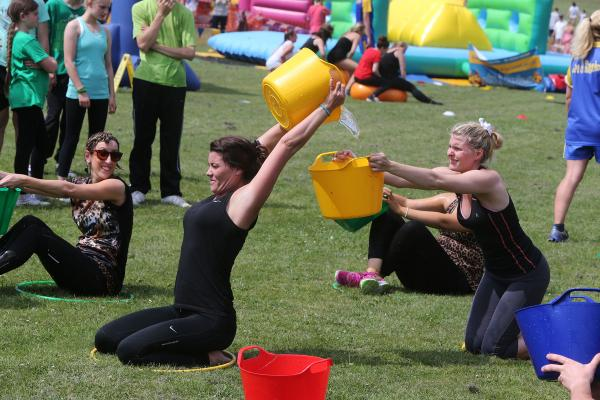 Families compete at community fun day