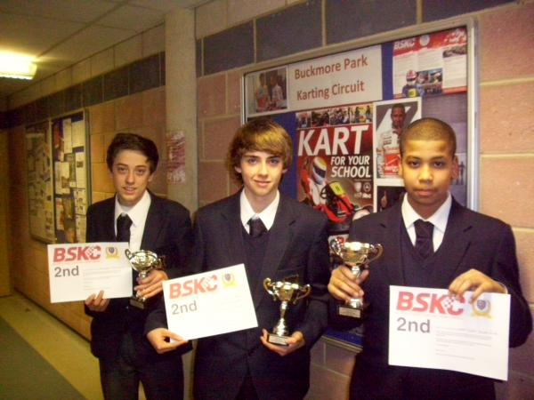 Oliver Longshaw, Ben Green and Jaiden Fenton finished second in last year's final