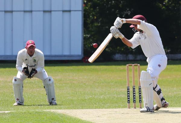 Bat away from the body: Wanstead (batting) defeated South Woodford on Saturday to remain at the Premier Division summit. Picture: Ken Mears