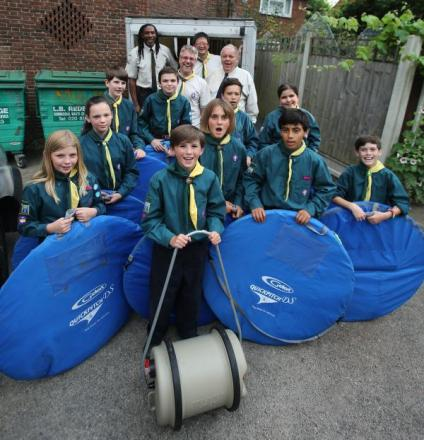 The stolen Scout trailer stolen from the Aldersbrook Scouts has been found