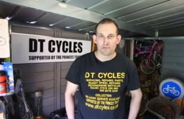 David Tish opened a cycle shop with help from the Prince's trust