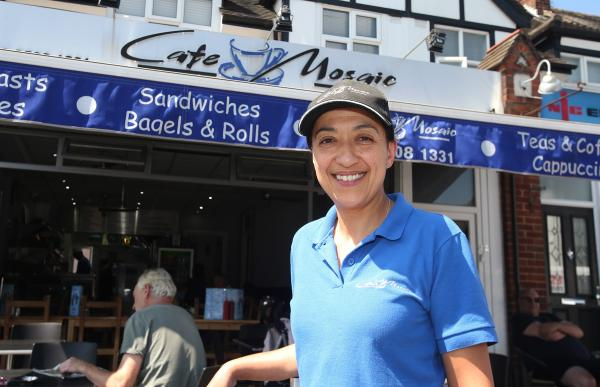 Sezele Moustafa owns Cafe Mosaic in Loughton.