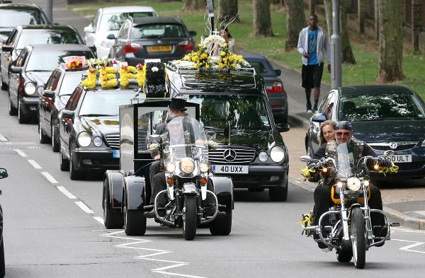 Funeral procession takes biker's favourite route