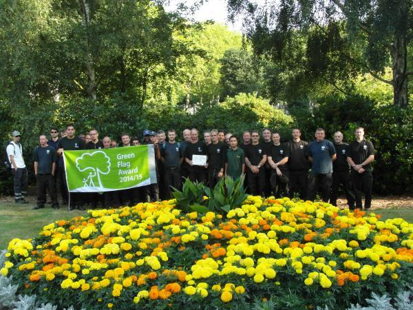 City of London Cemetery staff celebrate with Green Flag