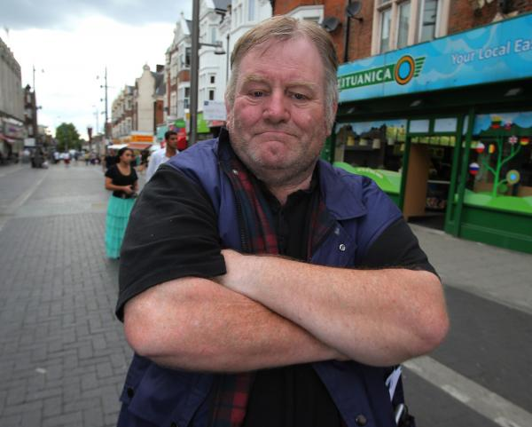 Tommy Anderson was mugged during an event in Walthamtow Market to mark the start of the First World War