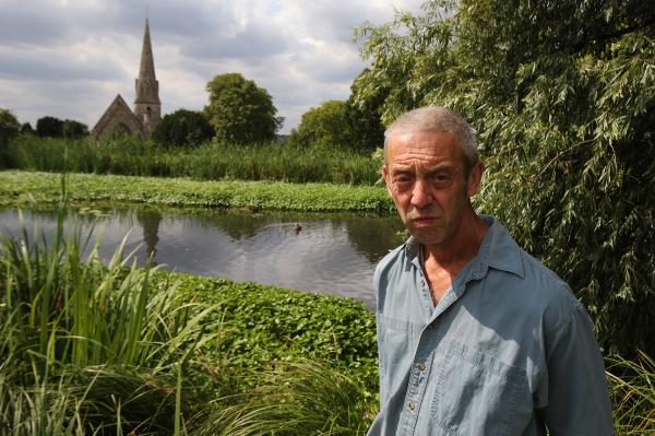 Jeff Youldon concerned about state of pond 'told to clean it up himself'.