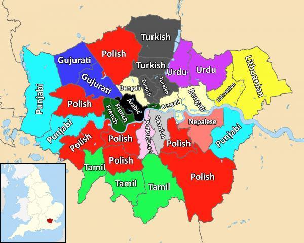 london second language map published