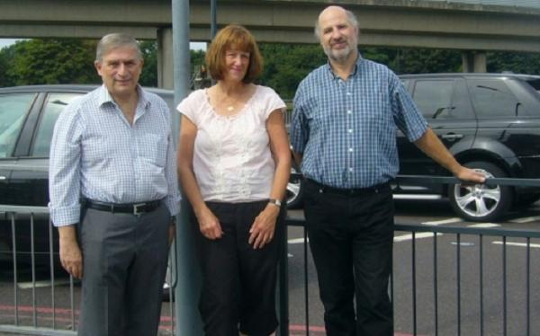 MP Lee Scott with Redbridge Roundabout Action Group's Angela Shea and Alan Haymes