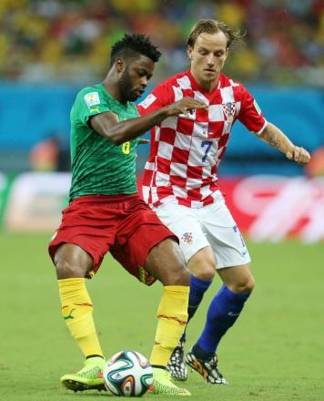 Alex Song in action for Cameroon against Croatia during the World Cup. Picture: Action Images