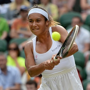 Heather Watson crashed out of the US Open in the opening round