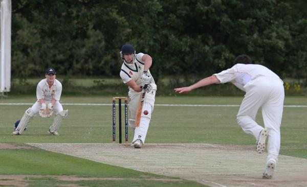 A vital victory: Buckhurst Hill, batting, opened up a cushion over Hadleigh and Thundersley in the Division One promotion race with a convincing win over Wickford on Saturday. Picture: Ken Mears
