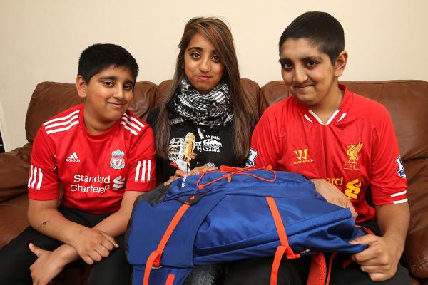 Urussa Khan with her brothers Fardeen (right) and Faisal.