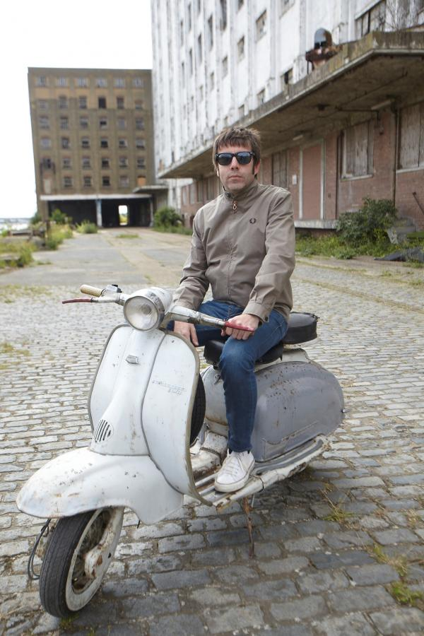 Scott Rance with the stolen 1960s Lambretta scooter