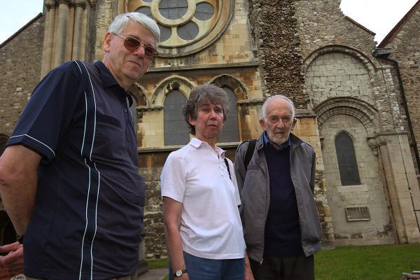 Historians  Chris  Sumner,  Mary Salton and Peter Huggins