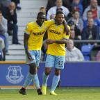East London and West Essex Guardian Series: Yannick Bolasie, left, shone in Palace's victory at Goodison Park