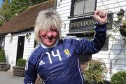 Rod Stewart lookalike, Ian Logie of West Hendon