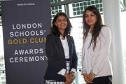 Munira Mirza, (left) cultural advisor to Boris Johnson, and Ms Chadee (right), head of computing at  Woodford County High School, collected the award at City Hall last week.