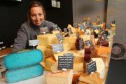 Owner Keeley Knap with a selection of cheeses