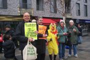 Waltham Forest Animal Protection group gathered in Walthamstow on Saturday