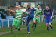 Waltham Abbey do battle with Aveley on Saturday. Picture: Mark Soanes