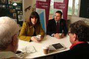 Rachel Reeves joined by Wes Streeting at the Q&A in the James Leal Centre