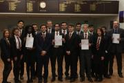 Chingford Foundation School sixth form students with the 'outstanding' Ofsted report
