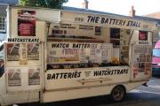 The battery stall in Epping market