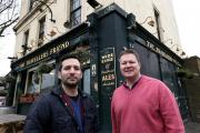 Owners Andrew Zacharia and Scott Randall outside The Traveller's Friend