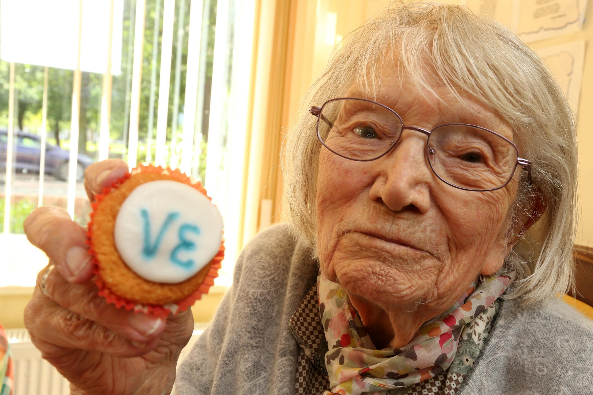 100-year-old Eileen Cox at the event yesterday. - 3731962