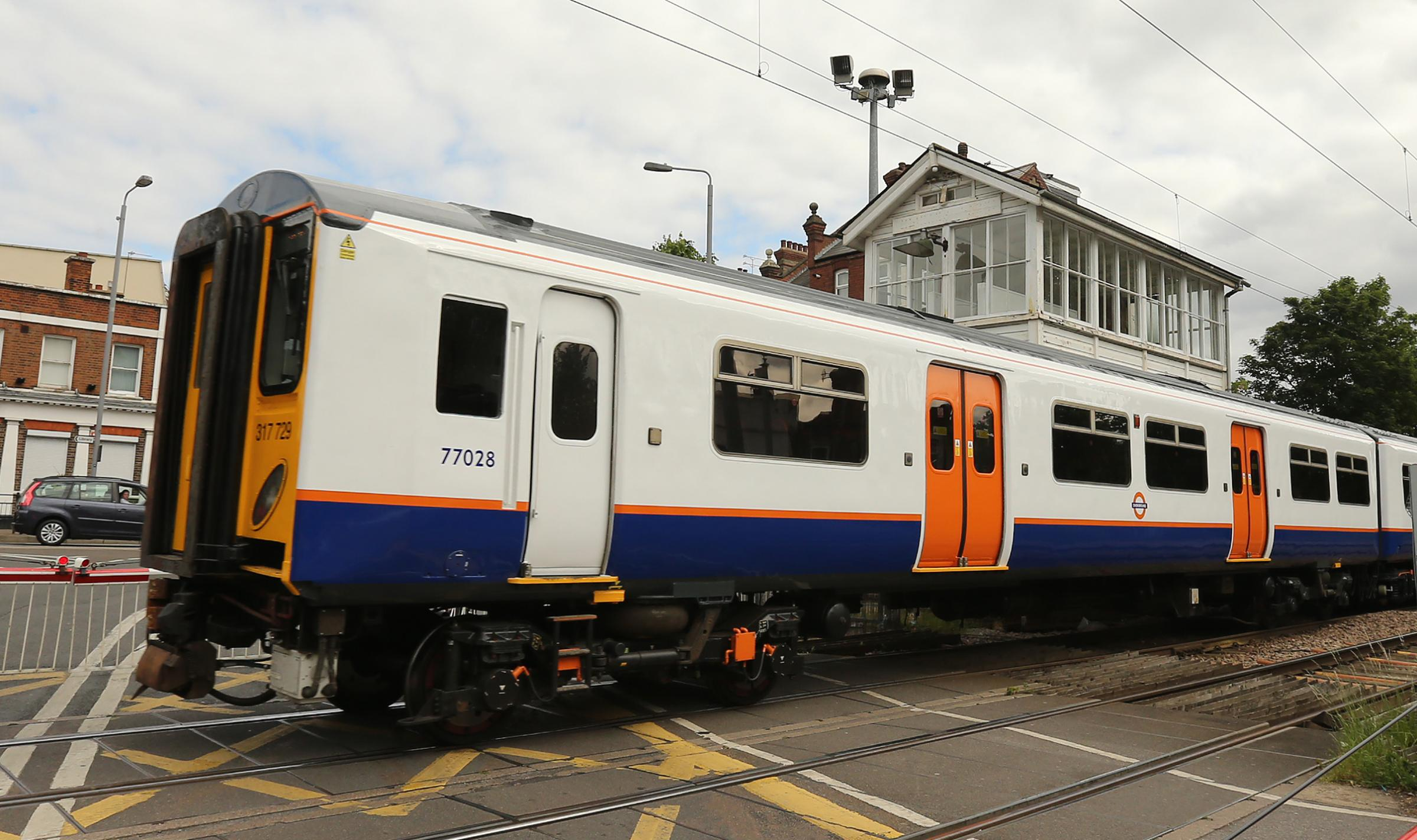 New London Overground train in Highams Park