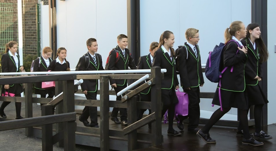 A first set of year seven pupils started at the school yesterday, ahead of other years joining in coming years (Photo: Roy Strutt)
